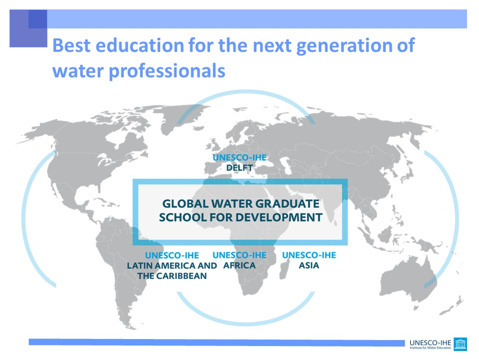 Best education for the next generation of water professionals
