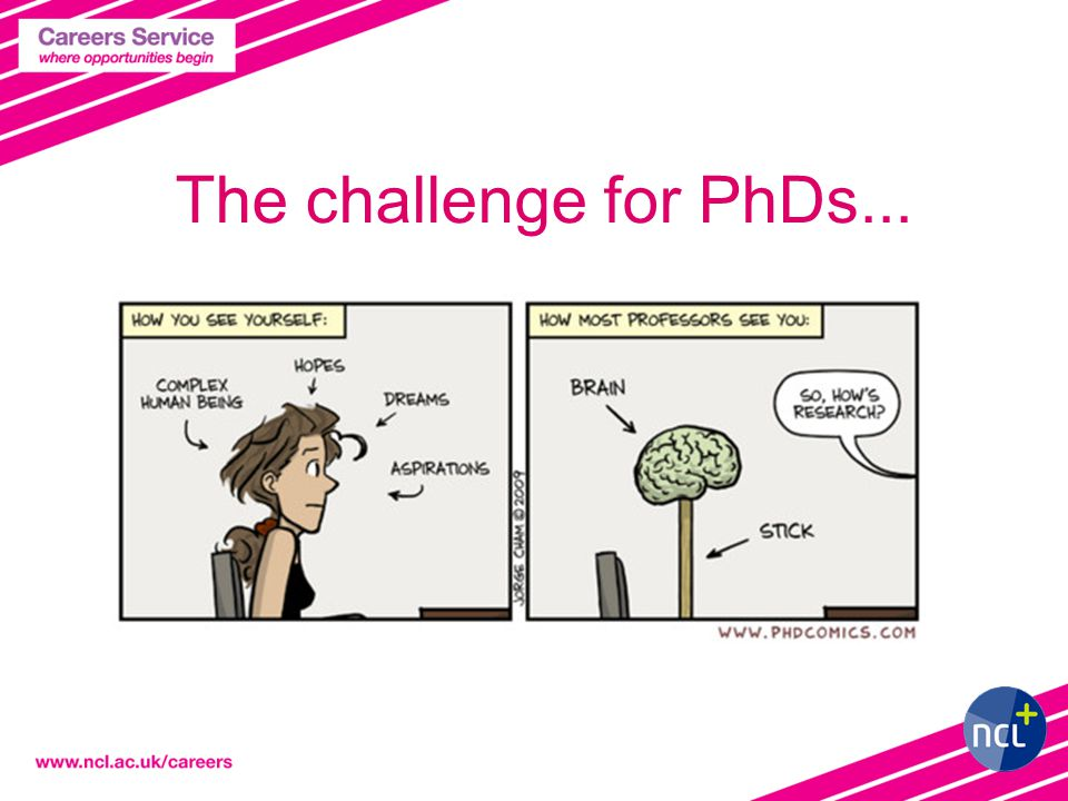 The challenge for PhDs...