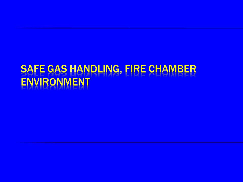  We should only have A Class material in a chamber  If careful control of all material in a chamber is taken (NO POCKETS)  A Class material is effectively controlled by using water  Also Fires need time to become established