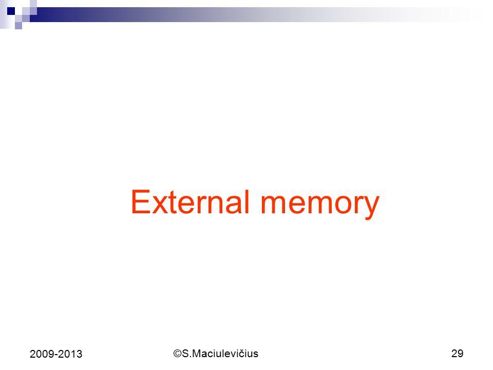 ©S.Maciulevičius29 2009-2013 External memory