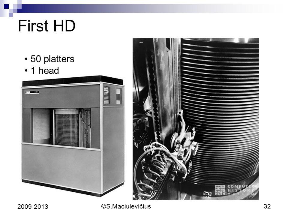 ©S.Maciulevičius32 2009-2013 First HD 50 platters 1 head