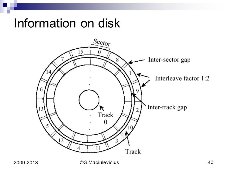 ©S.Maciulevičius40 2009-2013 Information on disk