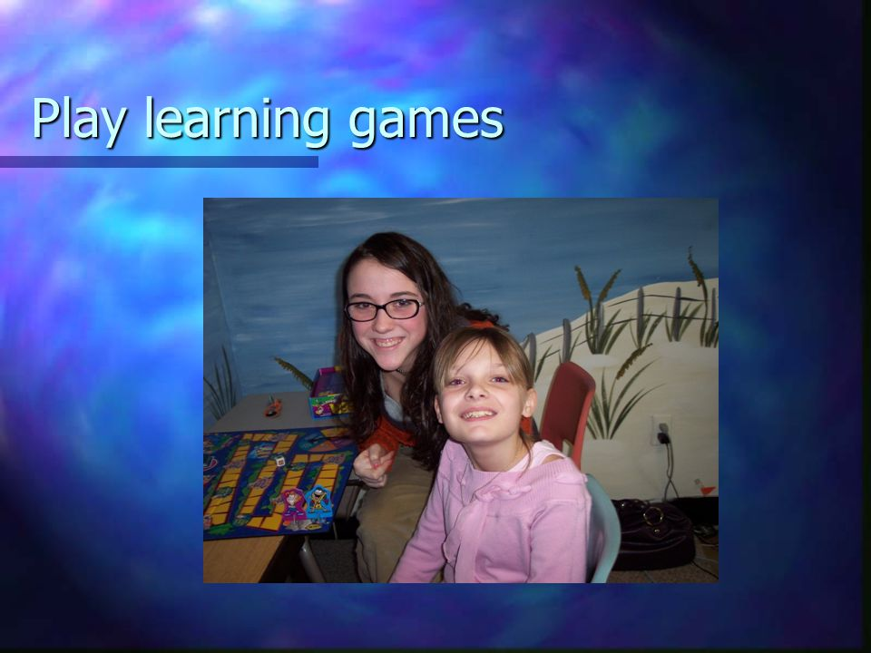 Play learning games