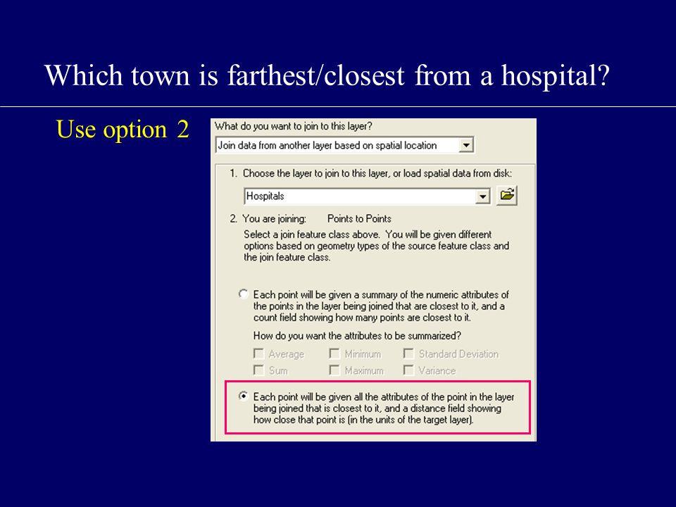 Use option 2