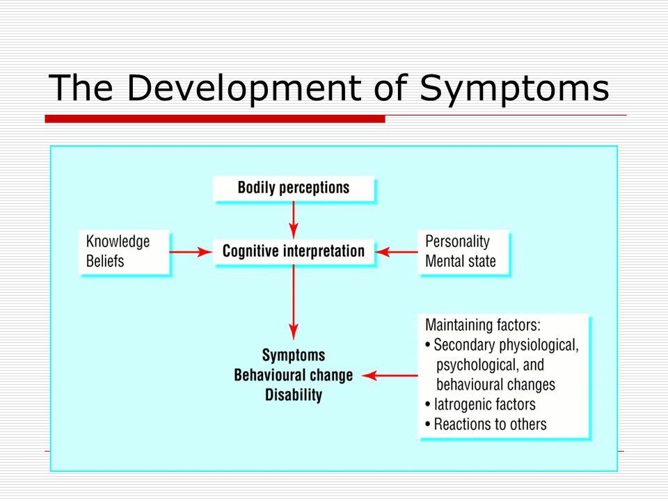 The Development of Symptoms
