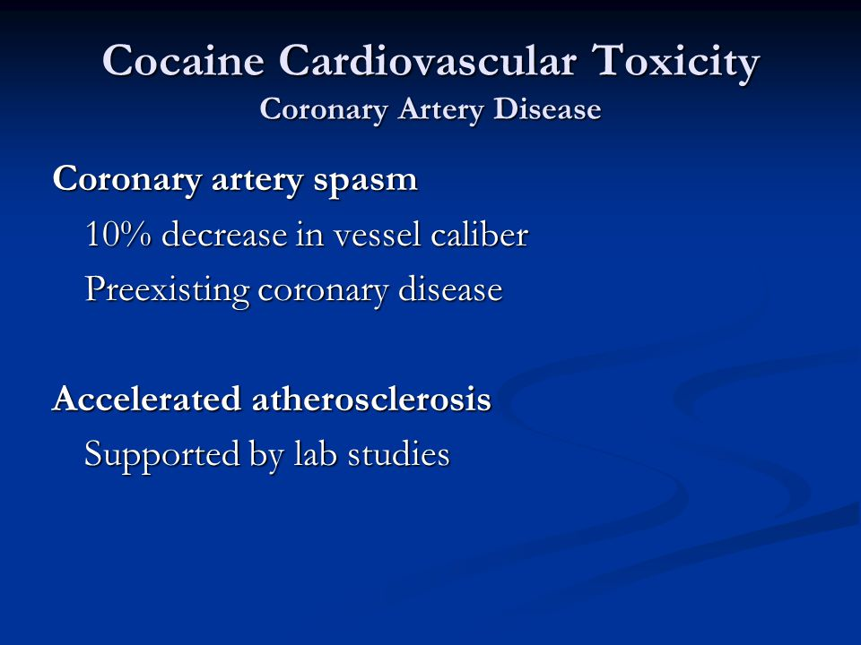 Cocaine Clinical Toxicity Dose- response relationship Stimulant Intoxication Scale Admitted7.9 +/- 3.5 Discharged5.3 +/- 2.2 Significant difference (P = 0.008)