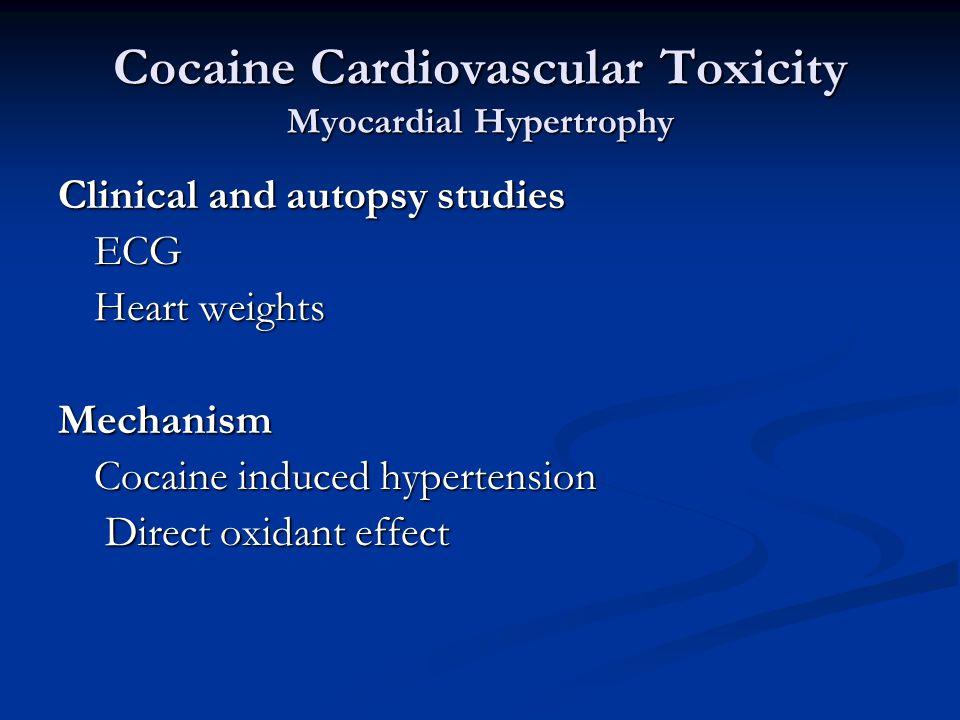 Cocaine Clinical Toxicity Dose- response relationship Stimulant Intoxication Scale Survivor5.7+/- 2.5 Decedent12