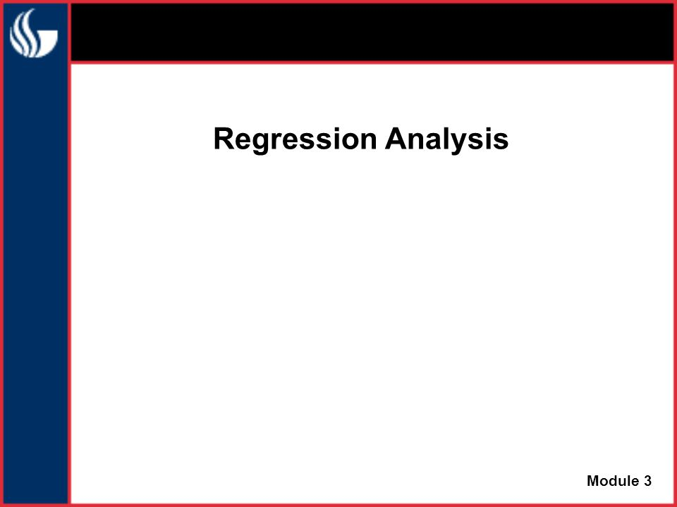 Regression Analysis Module 3