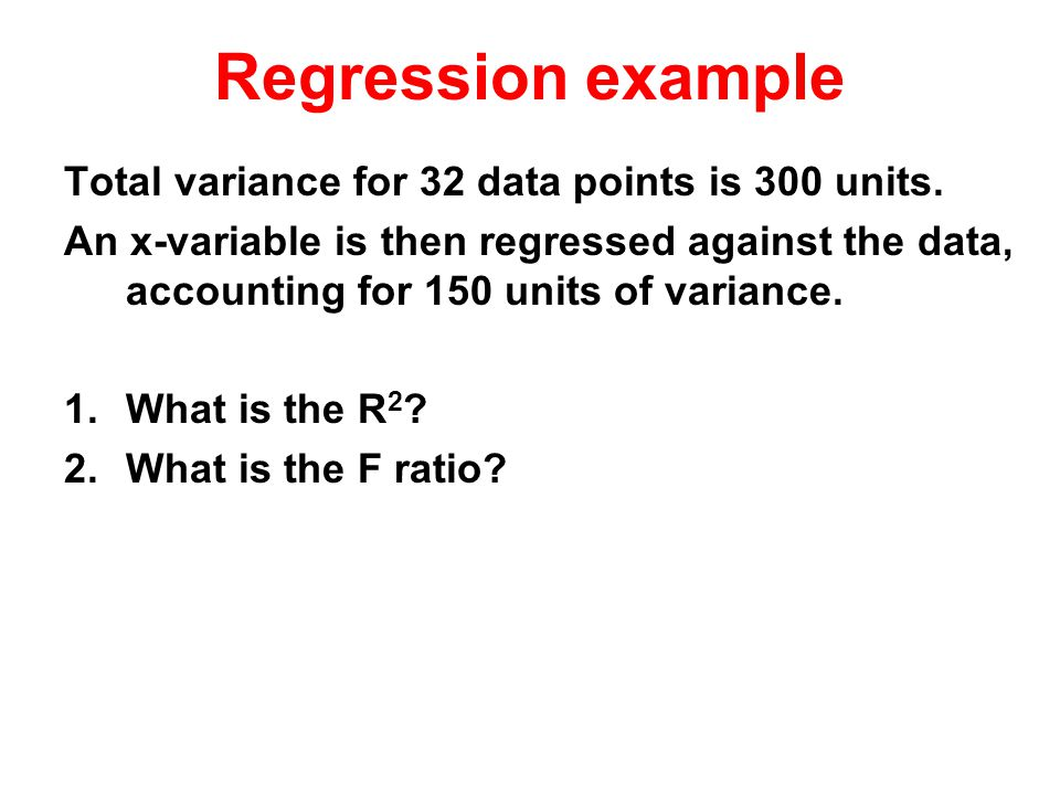 Total variance for 32 data points is 300 units.