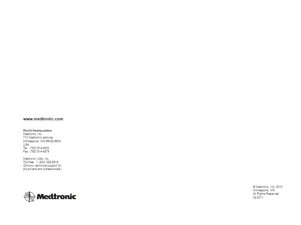 www.medtronic.com World Headquarters Medtronic, Inc.