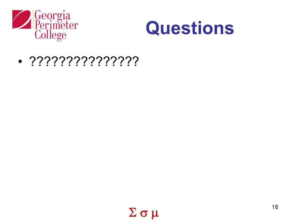  16 Questions