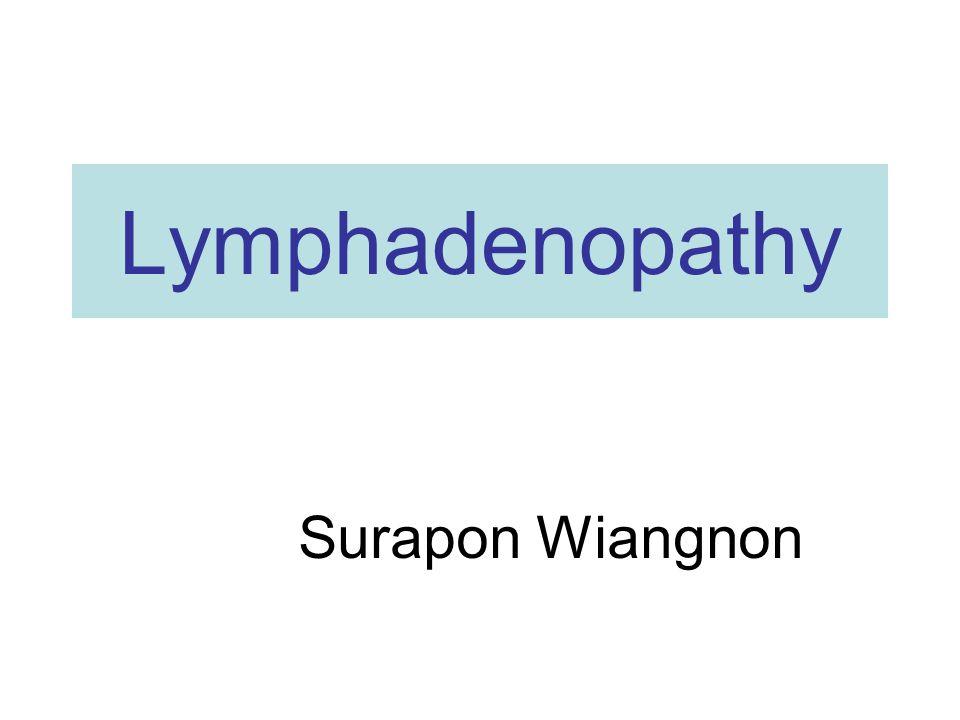 Lymphadenopathy Surapon Wiangnon