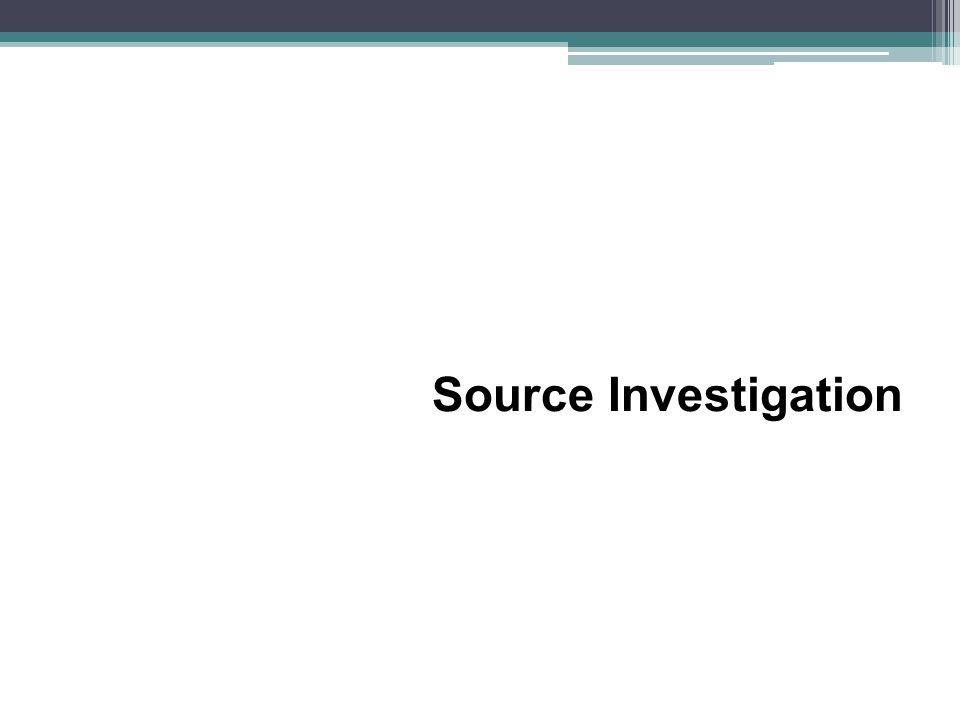 Source Investigation