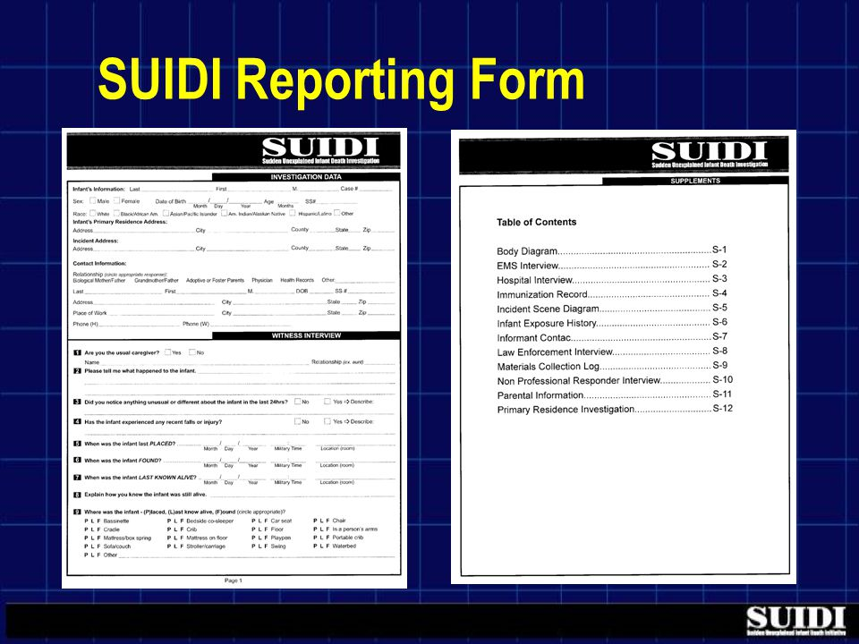 SUIDI Reporting Form