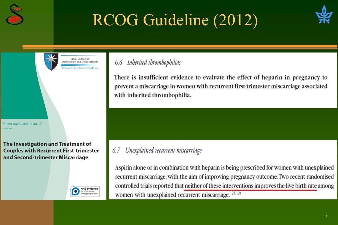 7 RCOG Guideline (2012)