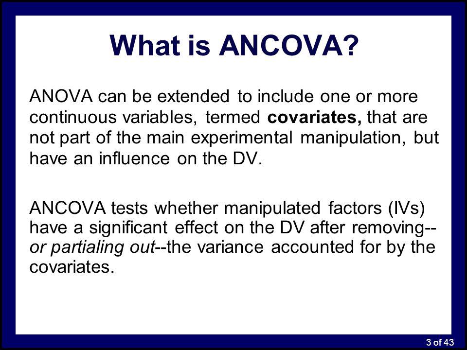24 of 43 ANCOVA: Main Analysis