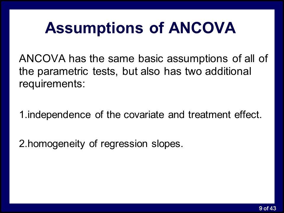 30 of 43 SPSS Output: Main Analysis ANOVA ANCOVA