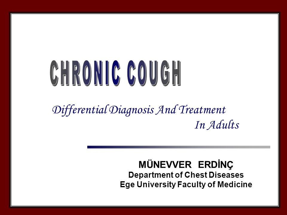 1.Chronic cough for at least 2 months 2. Immunocompetent patients 3.