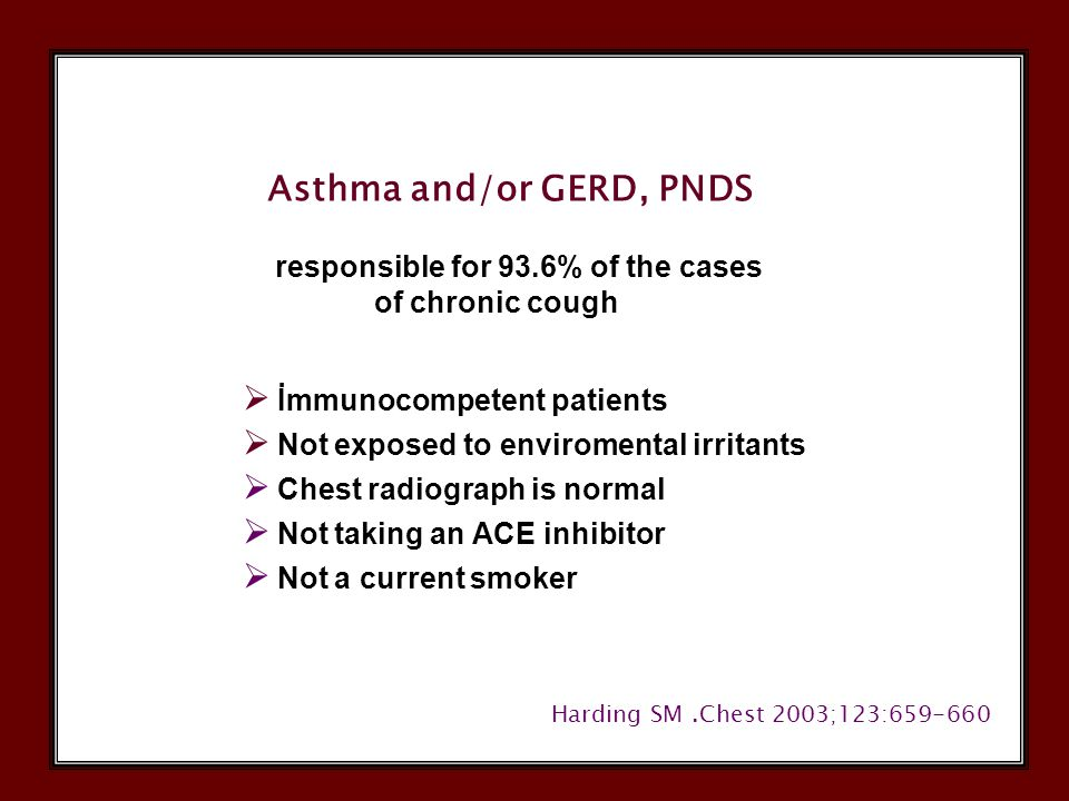 Changing Trends in Diagnosis Percentage of Diagnosis (%) GERD ASTHMARHINITIS