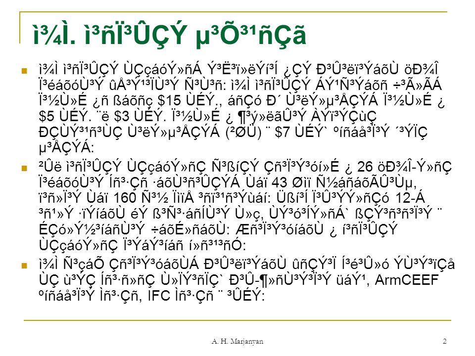 A.H. Marjanyan 2 ì¾Ì.