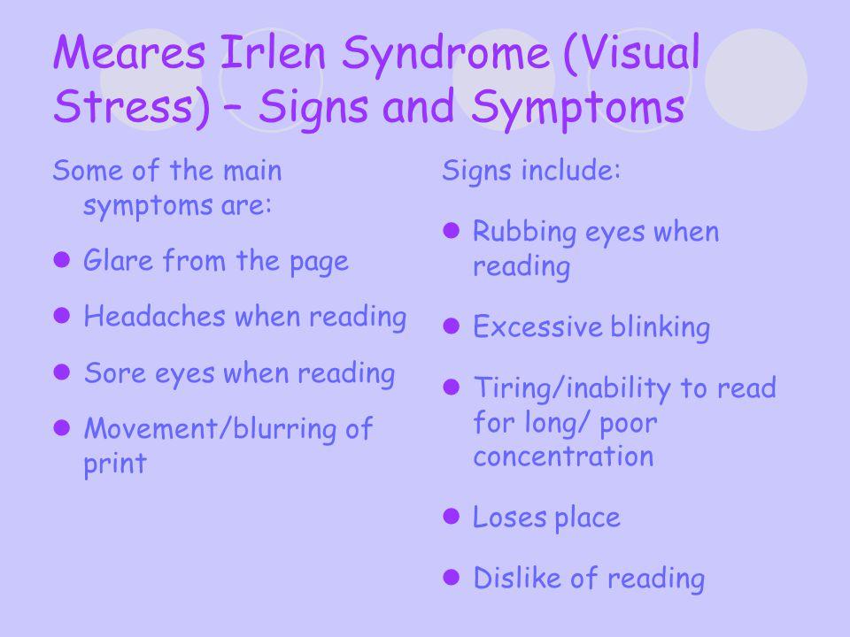What causes the visual disturbances.