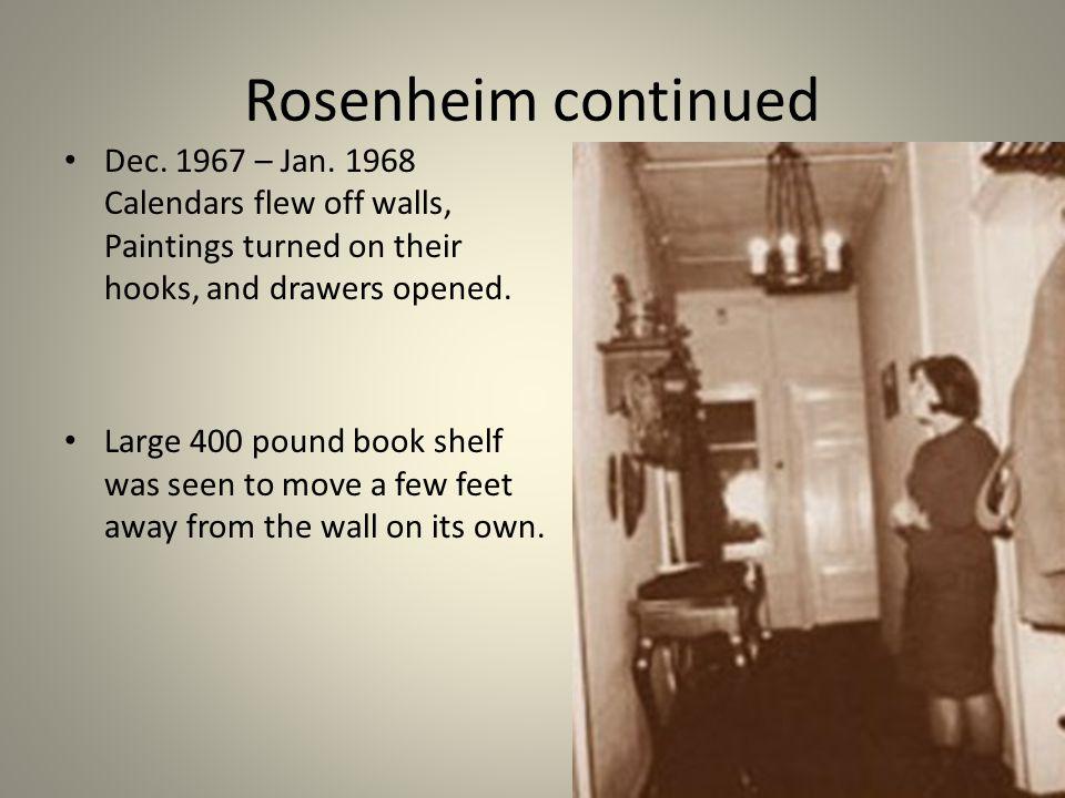 Rosenheim continued Dec. 1967 – Jan.