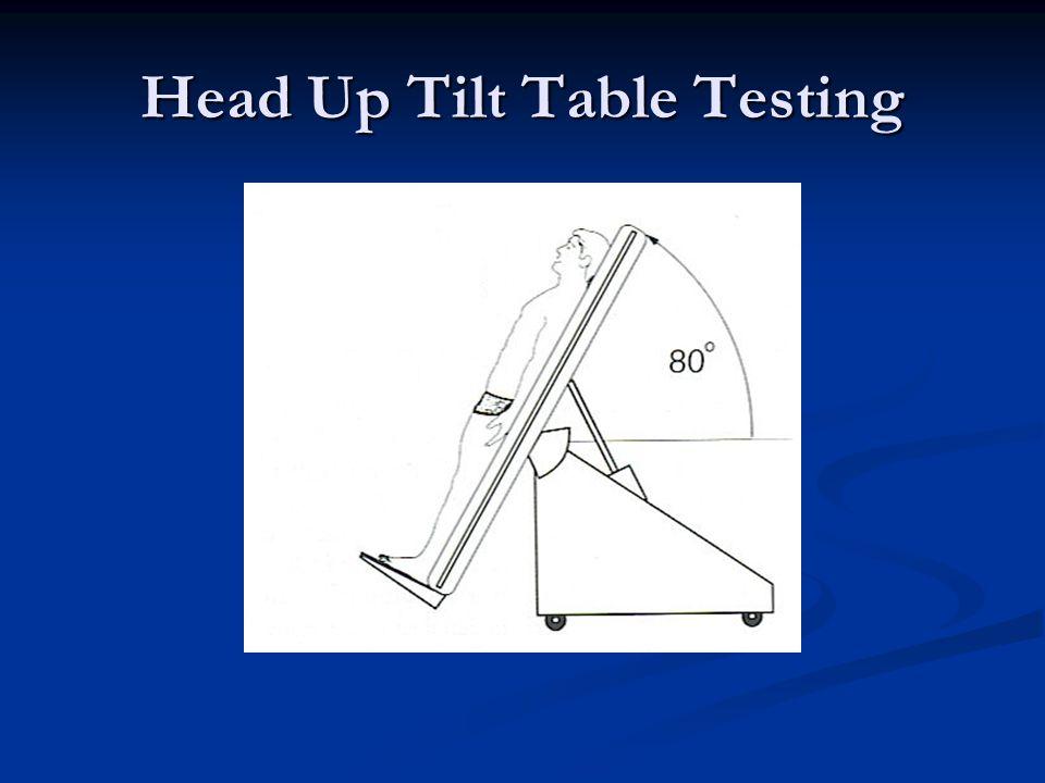 Head Up Tilt Table Testing
