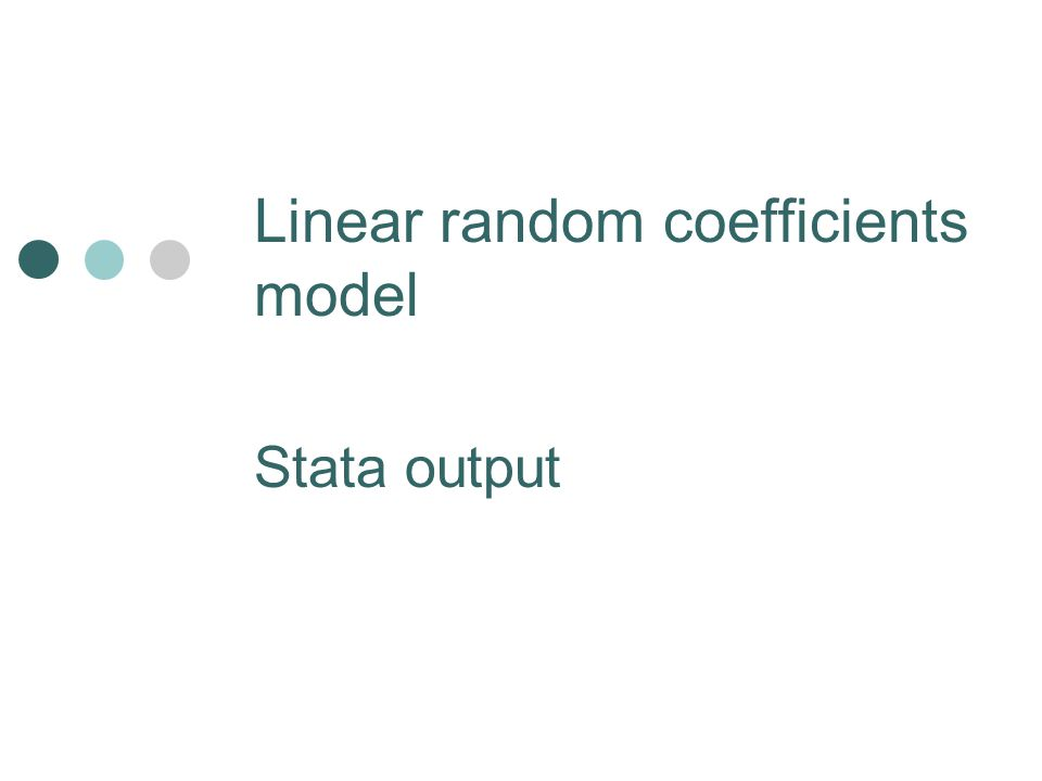 Linear random coefficients model Stata output