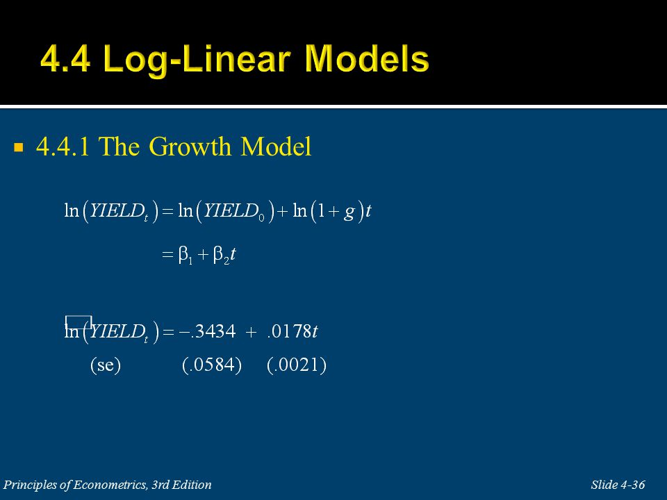  4.4.1 The Growth Model