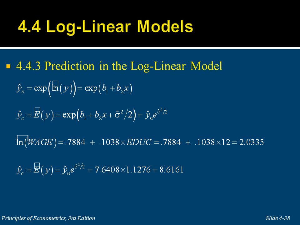  4.4.3 Prediction in the Log-Linear Model