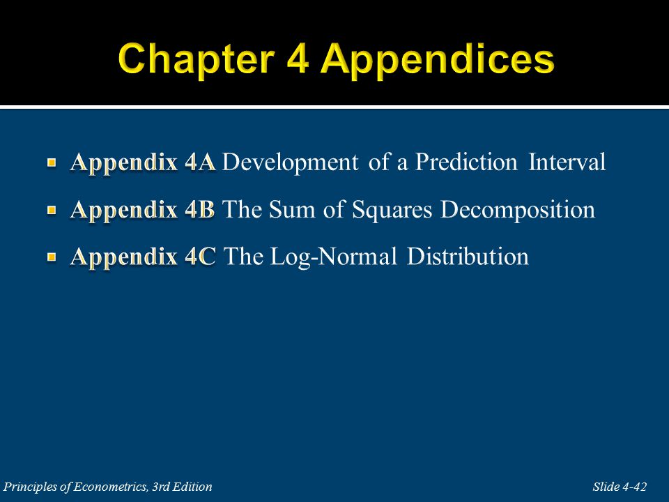 Slide 4-42 Principles of Econometrics, 3rd Edition