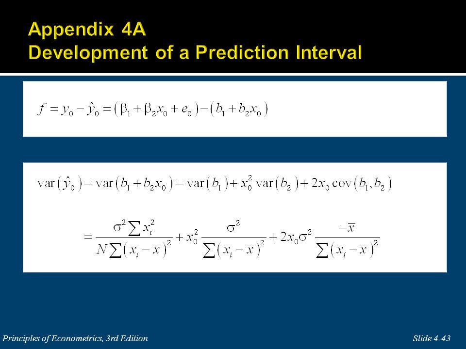 Slide 4-43 Principles of Econometrics, 3rd Edition