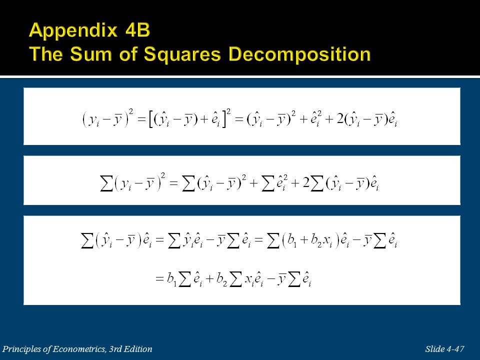 Slide 4-47 Principles of Econometrics, 3rd Edition