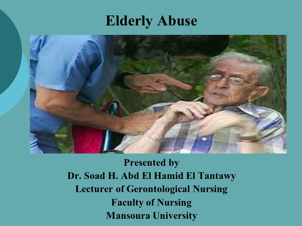 Signs of neglect  Malnutrition, dehydration  Lack of personal care  Inadequate heating  Unclean clothes or bedding  Lack of needed medications, eye glasses, hearing aids, or dentures  Contractures, decubitus ulcers, wasting and muscle atrophy
