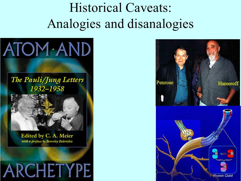 Historical Caveats: Analogies and disanalogies Penrose Hameroff