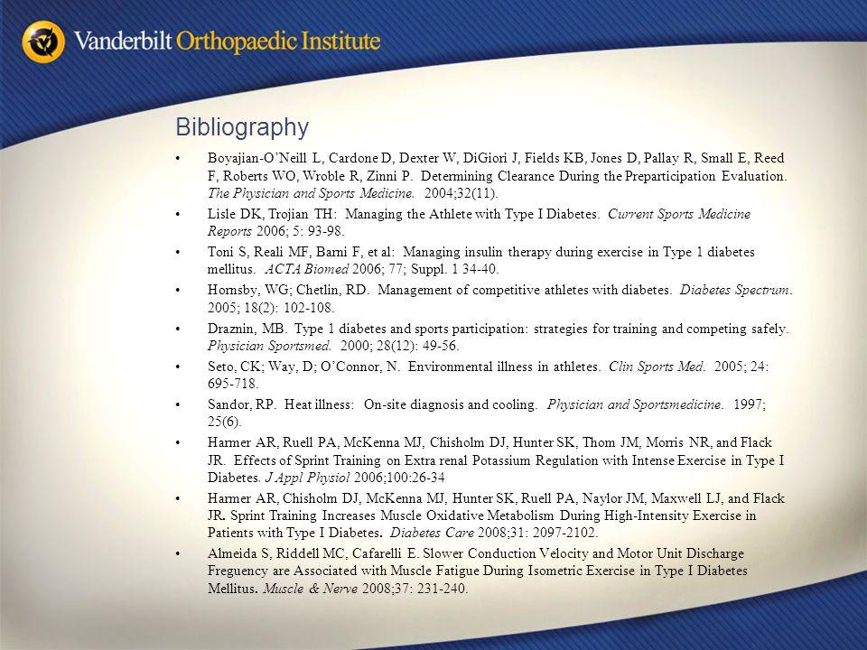 Bibliography Boyajian-O'Neill L, Cardone D, Dexter W, DiGiori J, Fields KB, Jones D, Pallay R, Small E, Reed F, Roberts WO, Wroble R, Zinni P.