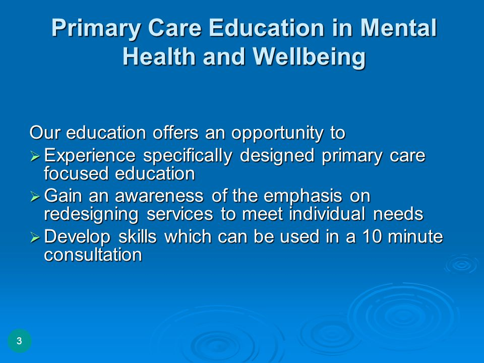 What next…… 09/05/2015 www.primhe.ning.com 4 Accredited Module in Primary Care Mental Health Advanced Diploma in Primary Care Mental Health Masters science in Primary Care Mental Health 09/05/2015 Certificate In Primary Care Mental Health