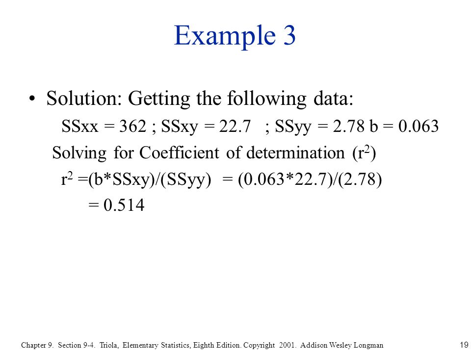 19 Chapter 9. Section 9-4. Triola, Elementary Statistics, Eighth Edition.
