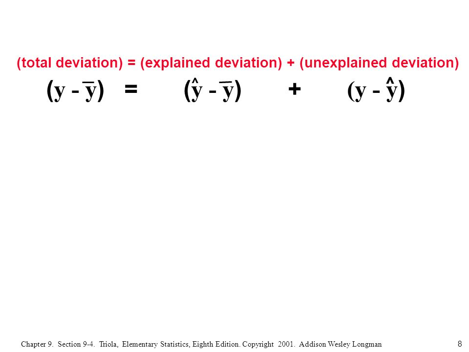 9 Chapter 9.Section 9-4. Triola, Elementary Statistics, Eighth Edition.