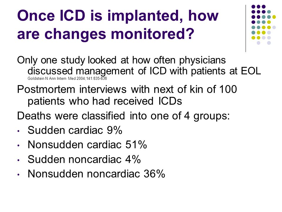 Once ICD is implanted, how are changes monitored.