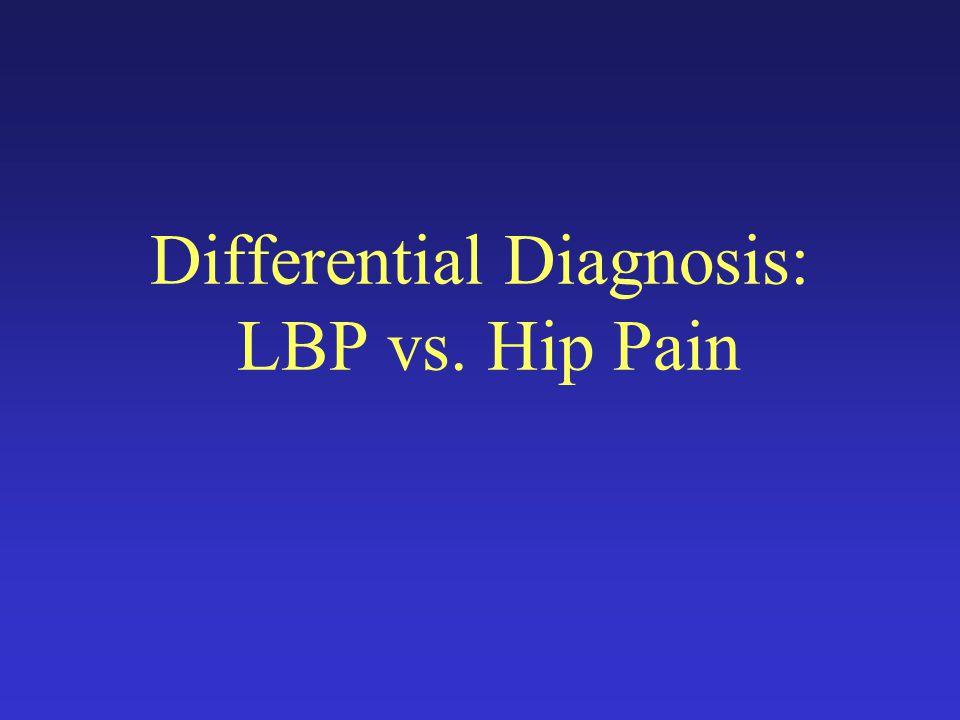 Differential Diagnosis: LBP vs. Hip Pain