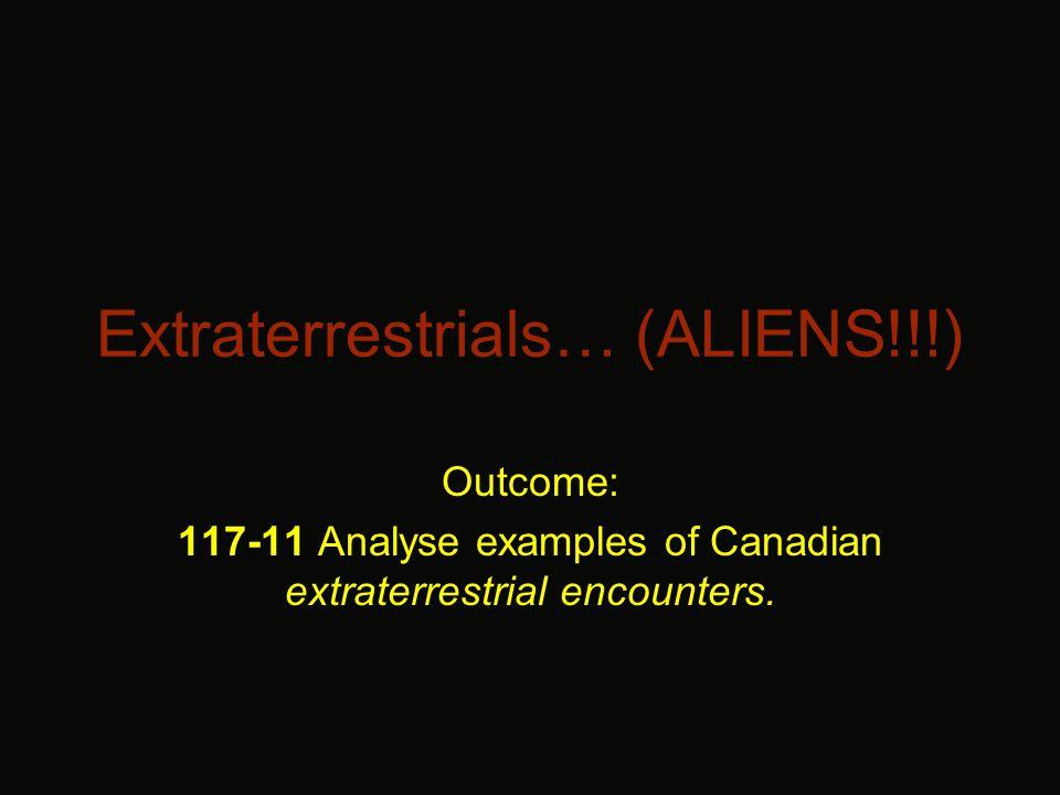 UFO Sightings in Canada.