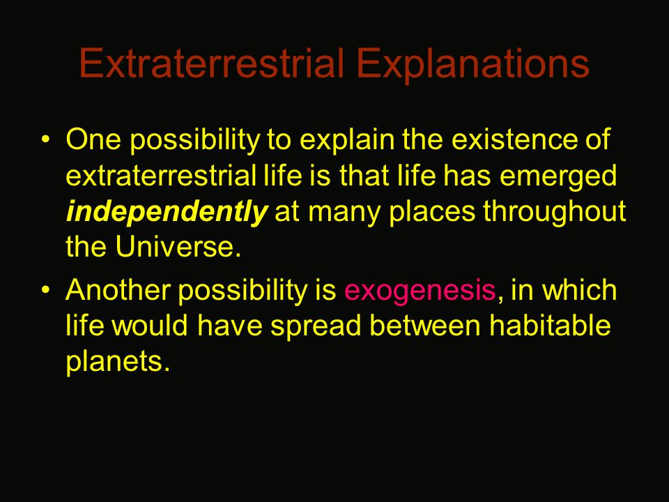 Extraterrestrial – What types of life count.