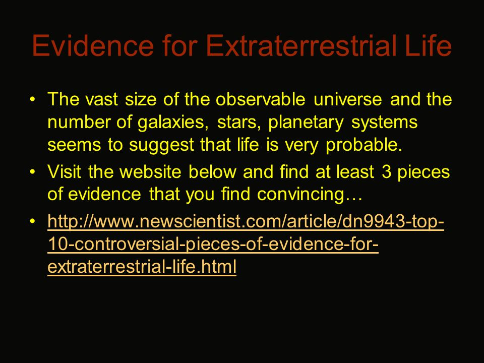 Stephen Hawking The following sites look at Stephen Hawking's view of aliens and extraterrestrial life (the first is a video, the second is text).