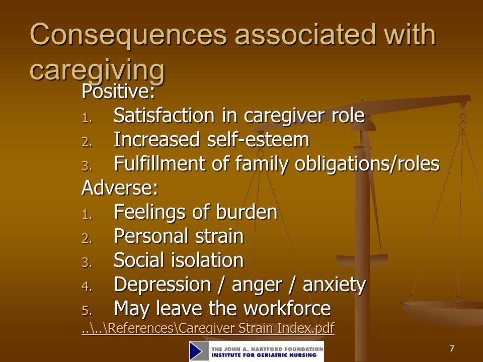 8 Caregiver Strain Index (CSI) Caregiver Strain Index Try This Assessment Series avvailable at: www.hartfordign.org