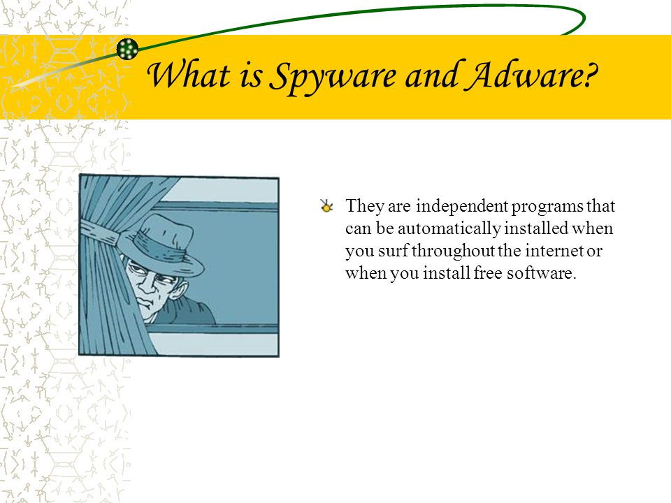 Ad-aware 6.0 Type: Adware Rating: –Detect/Destroy: 4 –Additional Features: 2 –User Friendly: 5 –Updates: 5 –Cost: 2 ($39.95) –Recommendations: 5 Advantages: Easy to use scanning.