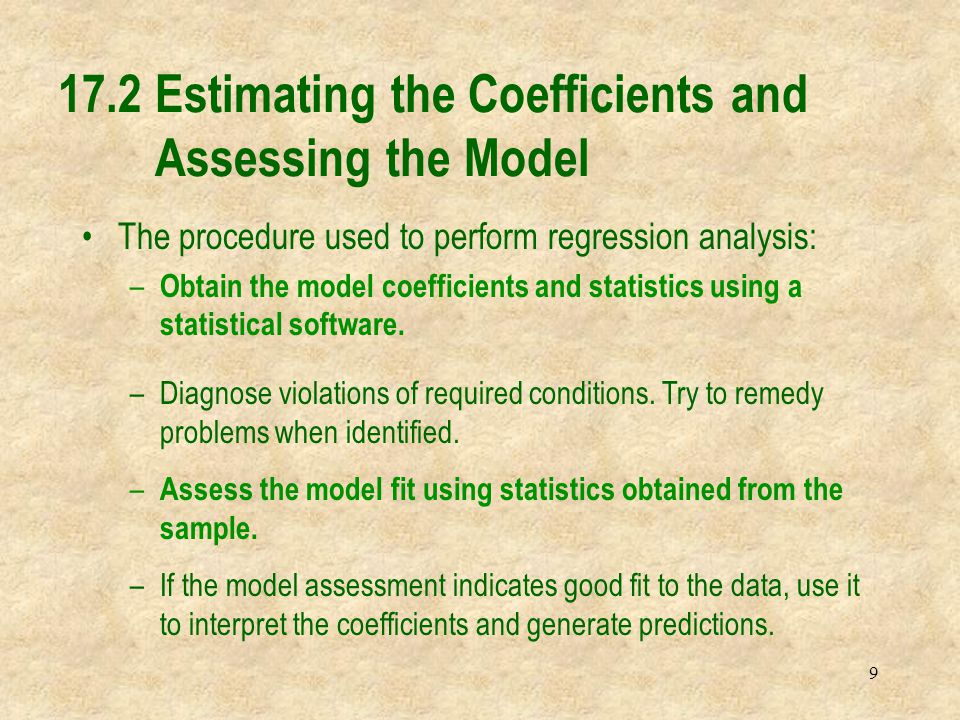 30 The hypothesis for each  i is Excel printout H 0 :  i  0 H 1 :  i  0 Testing the Coefficients See next the interpretation of the p-value results