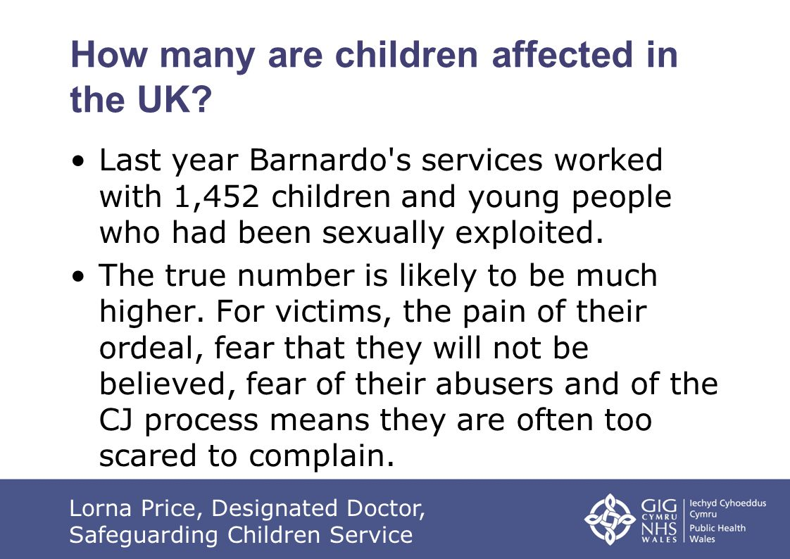 How many are children affected in the UK.