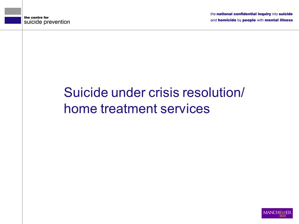 Suicide under crisis resolution/ home treatment services