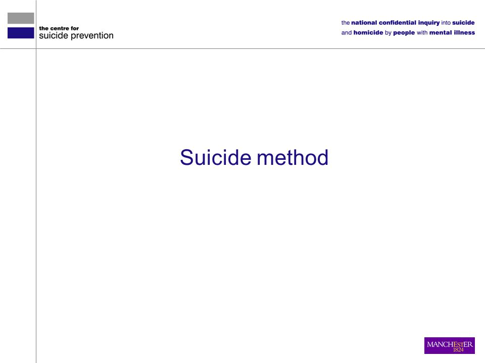 Suicide method